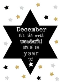 Kerst Label - December