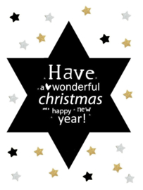 Kerst Label - Have a Wonderful Christmas