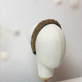Hair braid 'gold glitter'