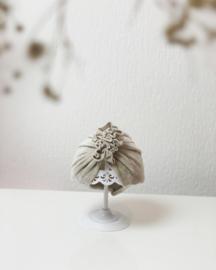 Mini-Turban ruffle 'sand'