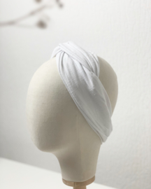 Hair bandeau 'Linen white'