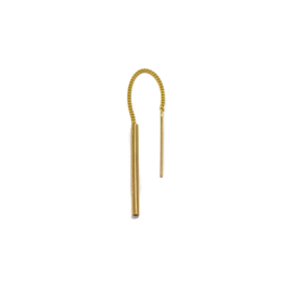SINGLE THREADER EARRING GOLD