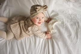 Mini-Turban bow 'sand'