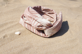 Hair bandeau 'Pink Palm'