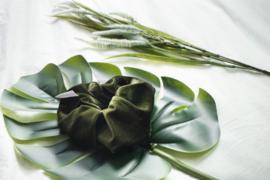 Dark olive 'scrunchie'