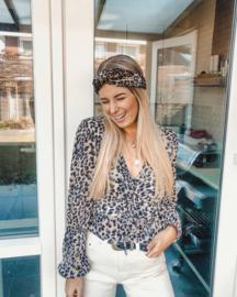 Hair bandeau 'Leopard velvet'