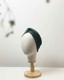 Hair bandeau 'Darker olive rib'
