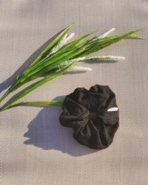 Black Linen  'scrunchie'