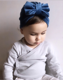 Mini-Turban bow 'petrol'