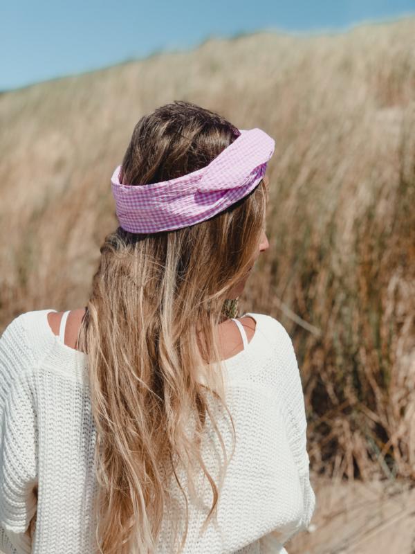Hair bandeau 'Pink diamond'