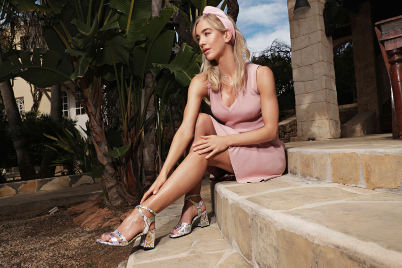 Hair bandeau 'light pink'