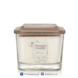 Yankee Candle Sheer Linen Medium 3-Wick Square Candle