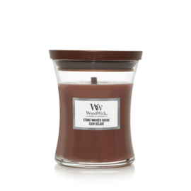 WoodWick Medium Candle Stone Washed Suede