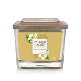 Yankee Candle Elevation Medium Jar Jasmine & Sweet Hay
