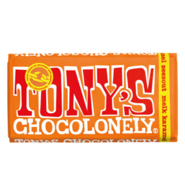 Tony's Chocolonely Melk Karamel Zeezout (180 gram)