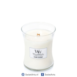 WoodWick Medium Candle Island Coconut