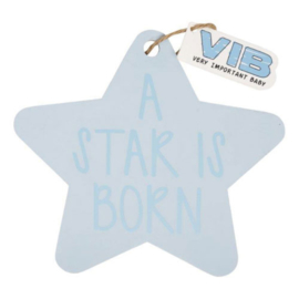 VIB Houten Bordje Ster Blauw (A STAR IS BORN)