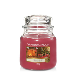 Yankee Candle Medium Jar Holiday Hearth (PRE-ORDER LEVERING V/A 1 OKT!)