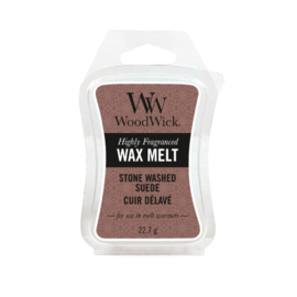 WoodWick Mini Wax Melt Stone Washed Suede