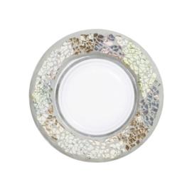 Yankee Candle Small Shade & Tray Gold & Pearl Mosaic
