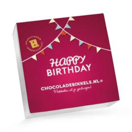 Chocoladebikkels 1 Doos met 20 Bikkels Verjaardag (Zelf samenstellen)