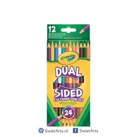 Crayola Dubbelzijdige Kleurpotloden 12 Stuks