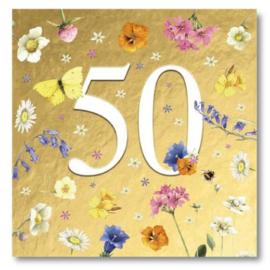 Hallmark Wenskaart Collectie Marjolein Bastin 33 (Verjaardag 50 jaar)
