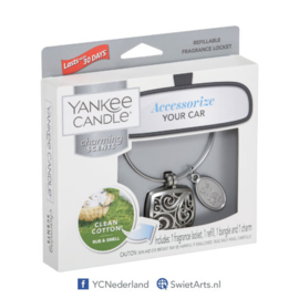 Yankee Candle Clean Cotton Square Refillable Locket Charming Scents Starter Kit