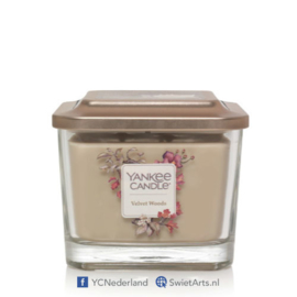 Yankee Candle Medium 3-Wick Square Candle Velvet Woods