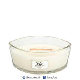 WoodWick Ellipse Candle White Teak