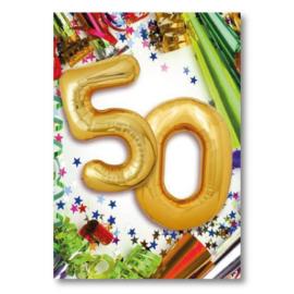 Hallmark Wenskaart Collectie Big Wishes 04 (Verjaardag 50 jaar)