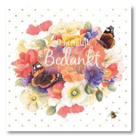 Hallmark Wenskaart Collectie Marjolein Bastin 17 (Bedankt)
