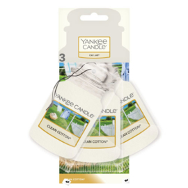 Yankee Candle Car Jar Clean Cotton 3 Pack