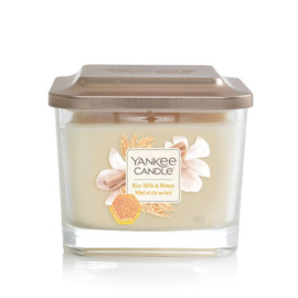 Yankee Candle Medium 3-Wick Square Candle Rice Milk & Honey