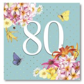 Hallmark Wenskaart Collectie Marjolein Bastin 35 (Verjaardag 80 jaar)