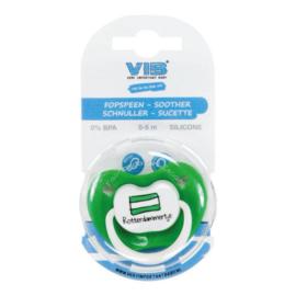 VIB Baby Fopspeen Groen / Wit (Rotterdammertje)