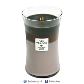 WoodWick Large Candle Cozy Cabin Trilogy