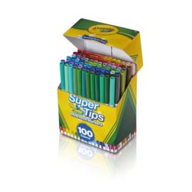 Crayola Supertips 100 Viltstiften met superpunt
