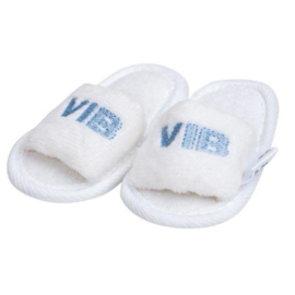 VIB Baby Slippers Wit / Blauw