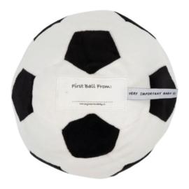 Pluche Voetbal 16cm (Wit-Zwart)