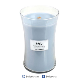 WoodWick Large Candle Soft Chambray