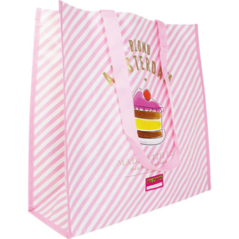 Blond Amsterdam Big Shopper Even Bijkletsen (Pink Stripe)