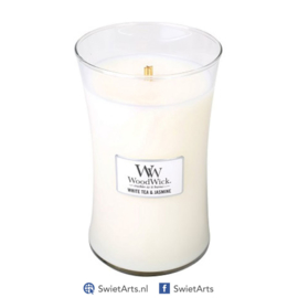 WoodWick Large Candle White Tea & Jasmine