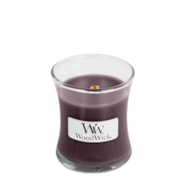 WoodWick Mini Candle Black Plum Cognac
