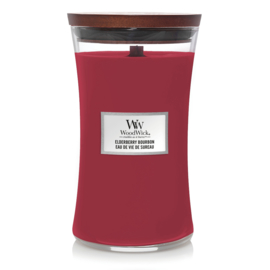 WoodWick Large Candle Elderberry Bourbon