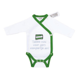VIB Rompertje Wit + Groen (Tebbie nou voor Gers rompertje an!)