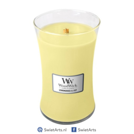 WoodWick Large Candle Lemongrass & Lily