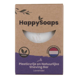 HappySoaps Shaving Bar Lavendel 80g