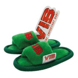 VIB Baby Slippers Kerst Groen / Rood