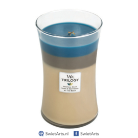WoodWick Large Candle Nautical Escape Trilogy